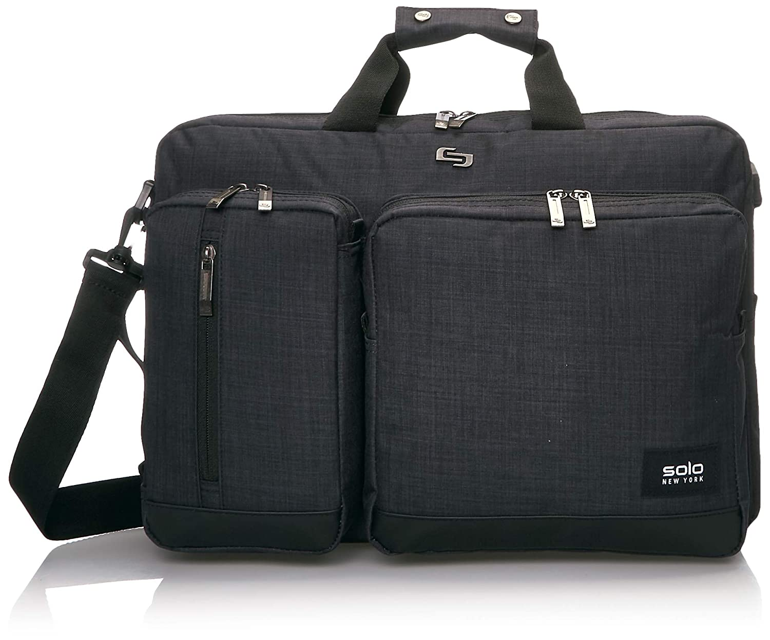 Solo Duane Convertible Briefcase. Fits Up to A 15.6-Inch Laptop. Converts To Backpack, Briefcase or Messenger Bag. Laptop Bag for Men or Women – Amazon Exclusive Slate
