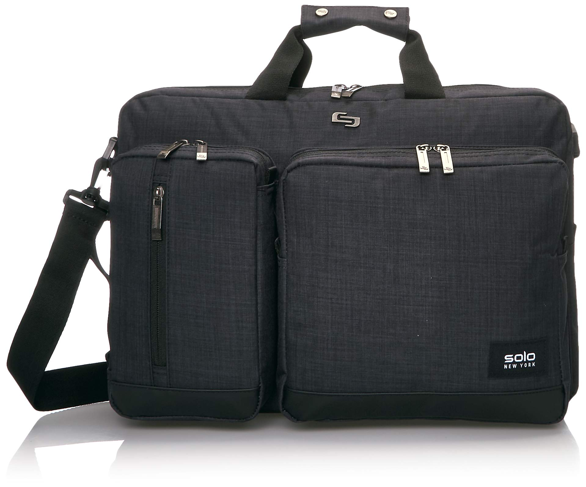 Solo Duane 15.6 Inch Laptop Hybrid Briefcase, Converts to Backpack, Slate, Amazon Exclusive by SOLO (Image #1)