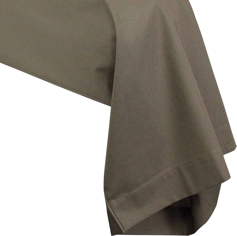 Linnea Taie de traversin uni 140x43 cm 100/% Coton Alto Muscade