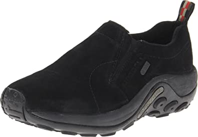 Women's Merrell Jungle Moc Waterproof Slip-On Shoes Black Z94t7211