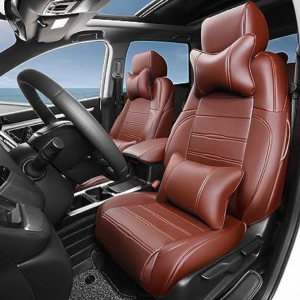KUST Zd5082w Car Seat CoversBrown Custom Fit Covers For Honda 2017 CRV