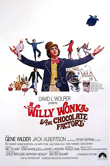 "MCPosters Willy Wonka and the Chocolate Factory 1971 GLOSSY FINISH Movie Poster - MCP287 (24"" x 36"" (61cm x 91.5cm))"