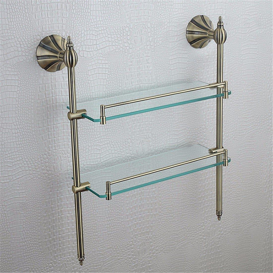 LAONA European style full copper imitation antique bronze petal base, bathroom fittings, toilet brush rack, towel rack, toilet paper rack,Rack 2