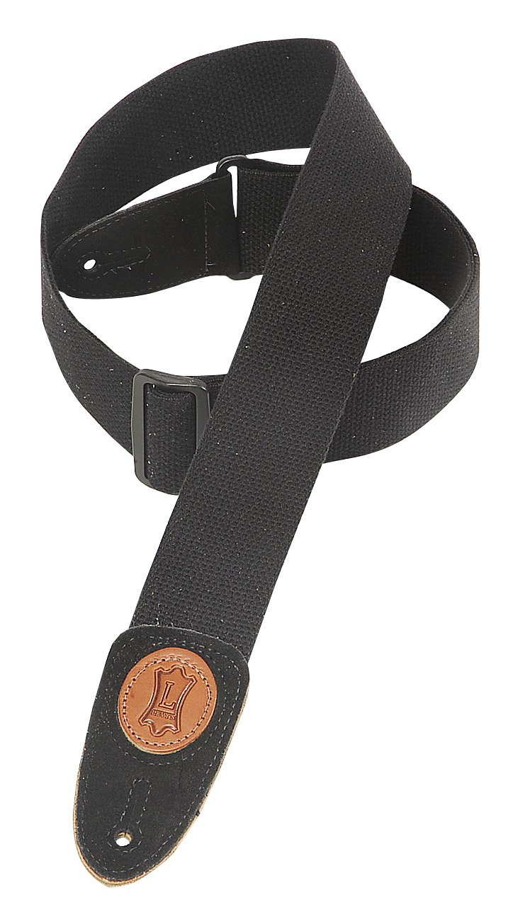 Levy's MSSC8-BLK 2'' Cotton Guitar Strap, Black by Levy's Leathers (Image #1)