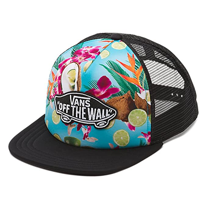 Vans Off The Wall Unisex Classic Patch Trucker Hat Cap - Coco Nuts ... 39b48baa5b9