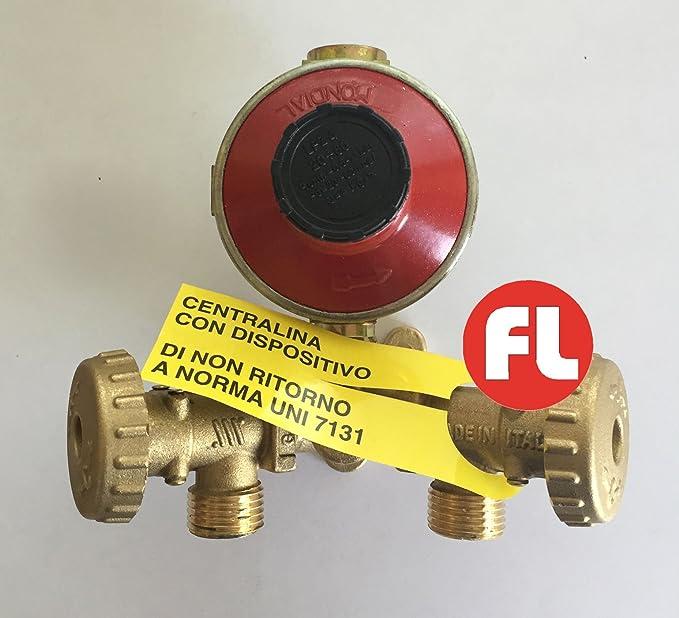 Minicentralita con regulador de 4 kg para 2 bombonas de gas ...