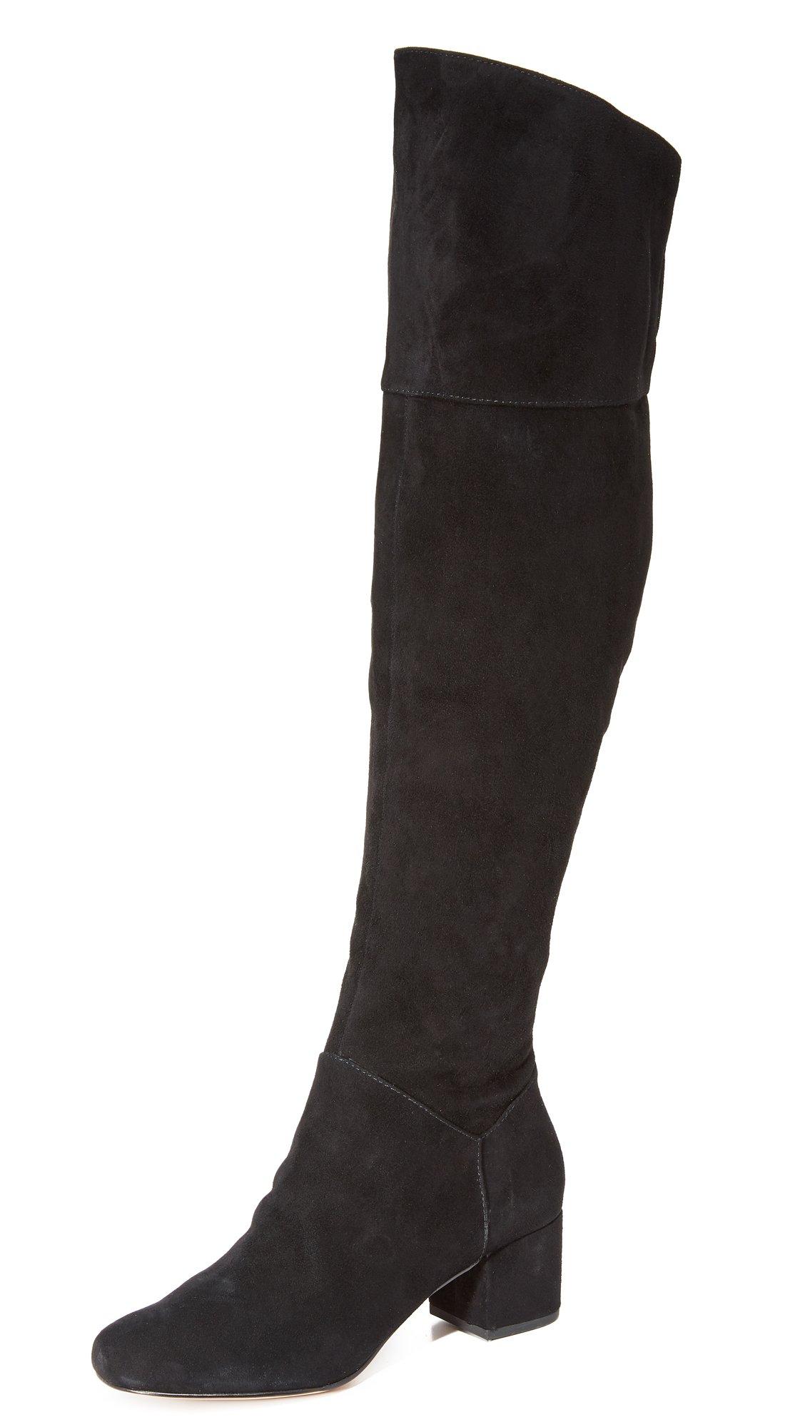 Rebecca Minkoff Women's Shawn Knee High Boots, Black, 8 B(M) US