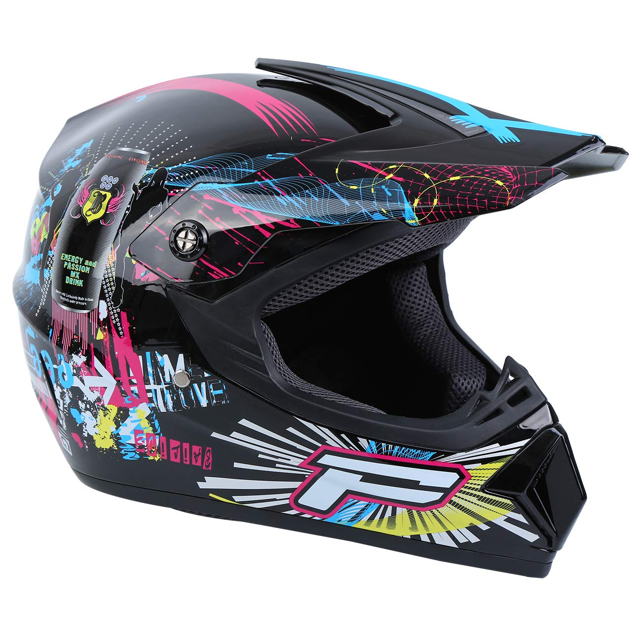 Jaune, L Samger Dot Adulte Casque Hors Route Casque Motocross Dirt Bike ATV Casque Moto Gants Lunettes