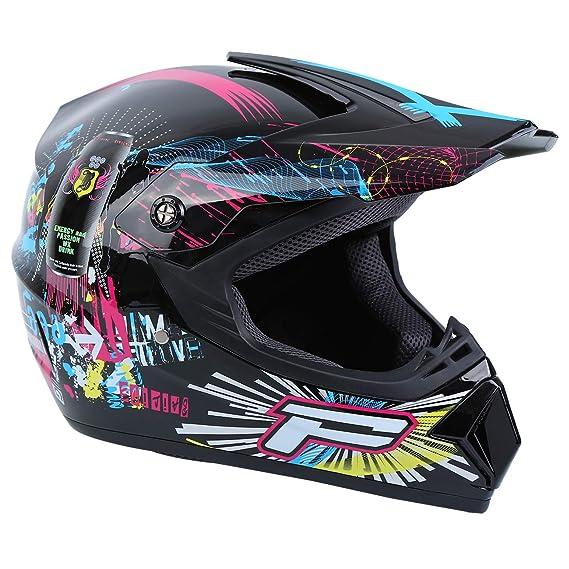 Samger DOT Adulto Offroad Casco Motocross Casco Dirt Bike ATV Casco Moto Occhiali Occhiali Nero, S