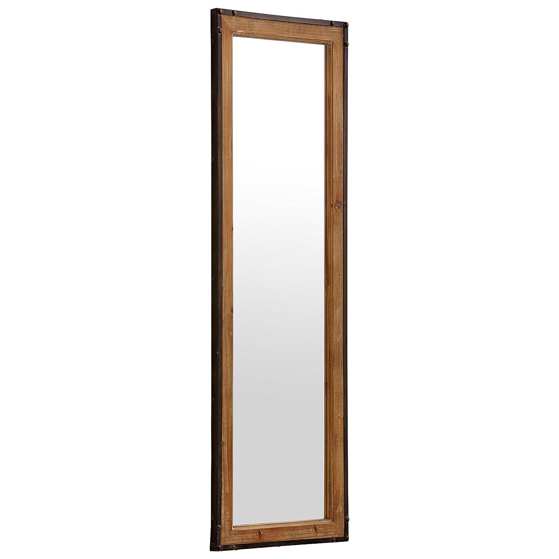 Amazon.com: Stone & Beam Wood and Iron Mirror, 42.25\