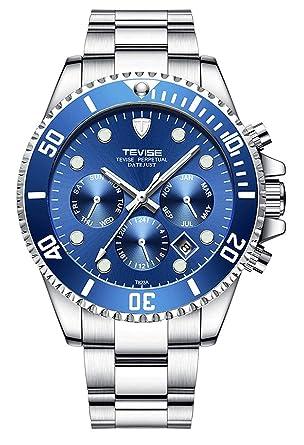Amazon.com: Reloj de lujo para hombre con correa de acero ...