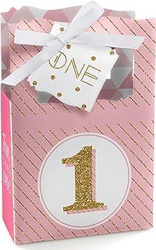 Amazon.com: Juego de 12 cajas de regalo para primera fiesta ...