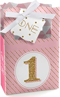 product image for Big Dot of Happiness 1st Birthday Girl - Fun to be One - First Birthday Party Favor Boxes - Set of 12