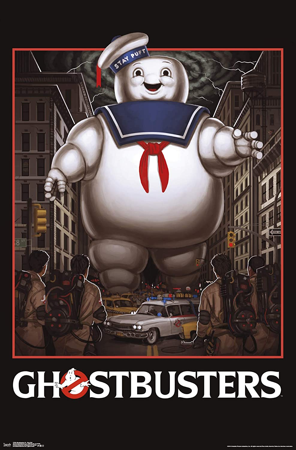 """Trends International Ghostbusters 84 - Stay Puft Wall Poster, 22.375"""" x 34"""", Multi"""