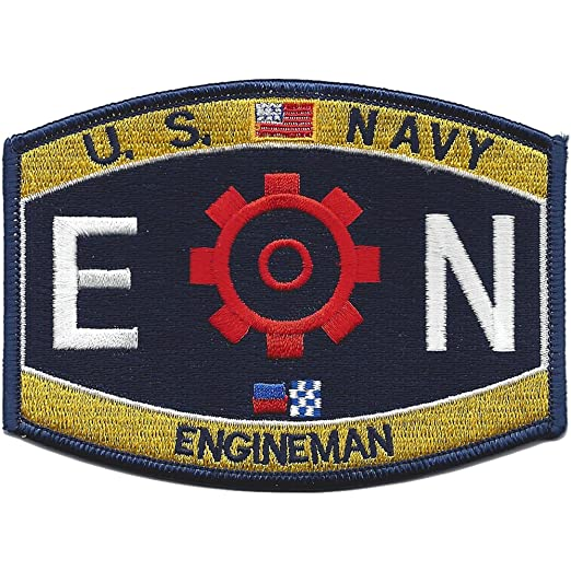 amazon com en engineman rating patch navy naval insignia clothing