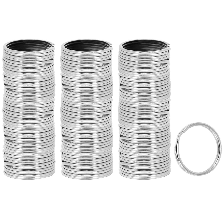 com-four/® 20x Schl/üsselringe aus Metall 020 St/ück - verchromt rund Sortiment Metallringe in verschiedenen Gr/ö/ßen
