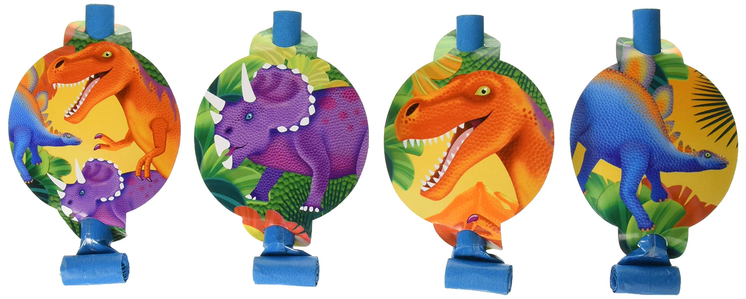 Amscan Prehistoric Dinosaurs Blowouts, Party Favor, 48 Ct.