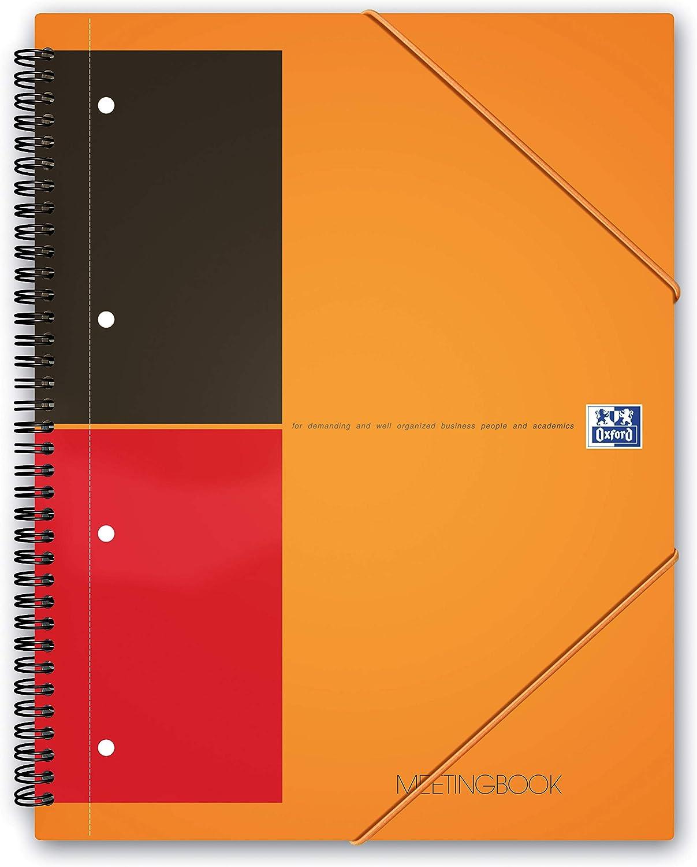 Oxford International Meeting-Buch doppelt spiralgebunden beidseitiger Rand liniert 160 Seiten A4 5 St/ück