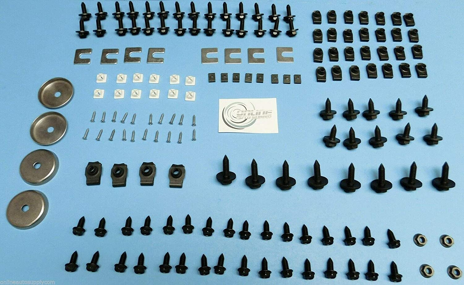 Online Auto Supply Front End Sheet Metal Hardware 166pc Kit Fits 68 69 70 71 72 Chevelle El Camino Bolts