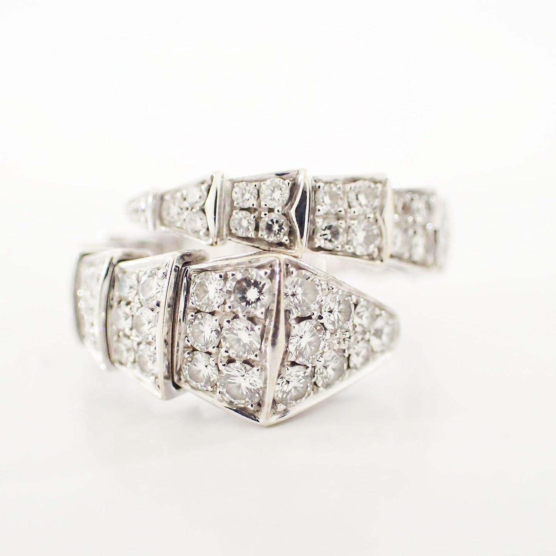 ブルガリ セルペンティ リング 指輪 フルダイヤ Lサイズ(約13号~17号)