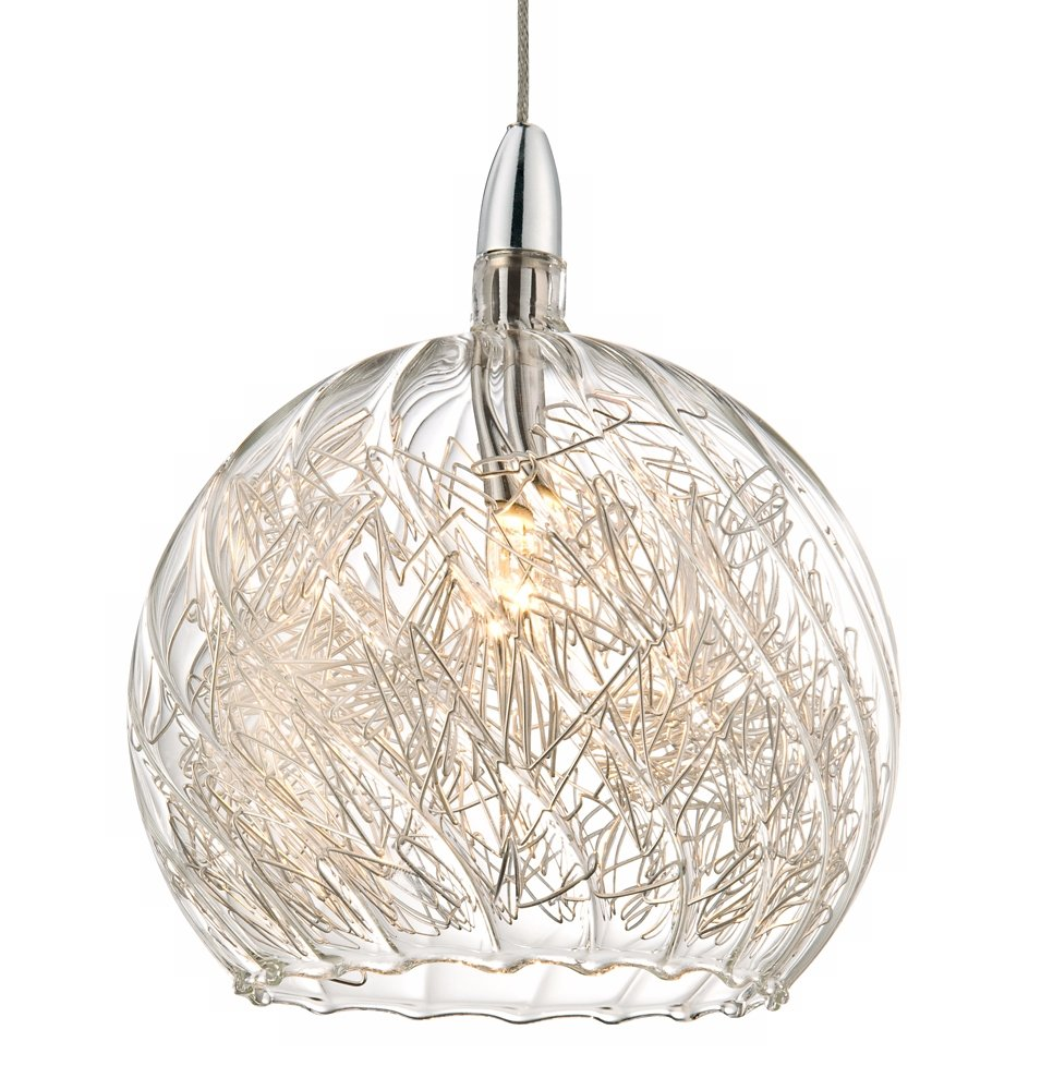 Wire Pendant Light Possini Euro 4 1 2 Wide Swirl Wire Glass Mini Pendant Light