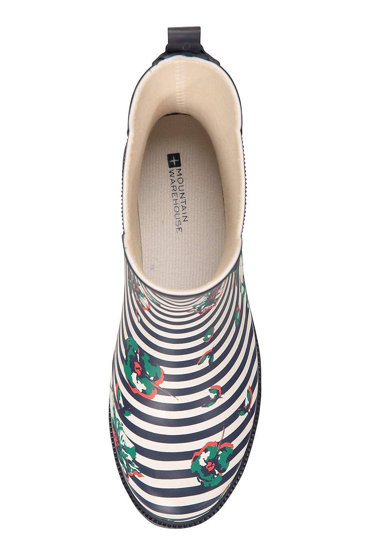 EVA Footbed Chaussures de Pluie imperm/éables Facile /à Netto Mountain Warehouse Wellies Bottines en Caoutchouc imprim/ées pour Femmes Doublure Molle de laines