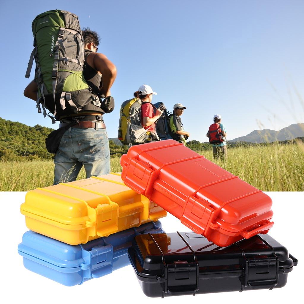 JERKKY Camping EDC Antichoc Bo/îte Imperm/éable De S/écurit/é Survie Aide De Rangement Conteneur Bleu #L