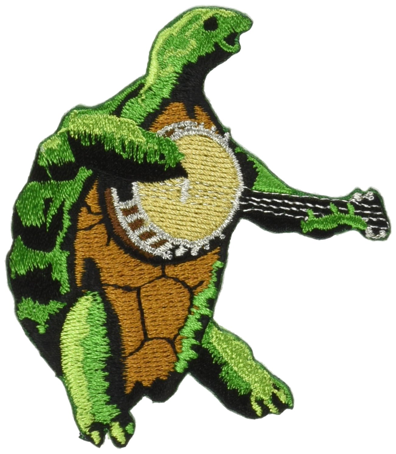 Officially Licensed Artwork High Quality Iron-On // Sew-On GRATEFUL DEAD Terrapin Banjo 3 x 2.5 Embroidered PATCH Flicken