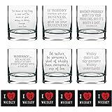 YaYa cafe 325ml Engraved whiskey glass(Clear) - Set of 6