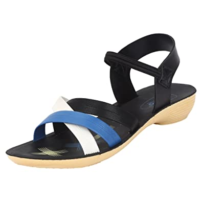 547549a789cd Bersache Black Women Sandals  Buy Online at Low Prices in India - Amazon.in