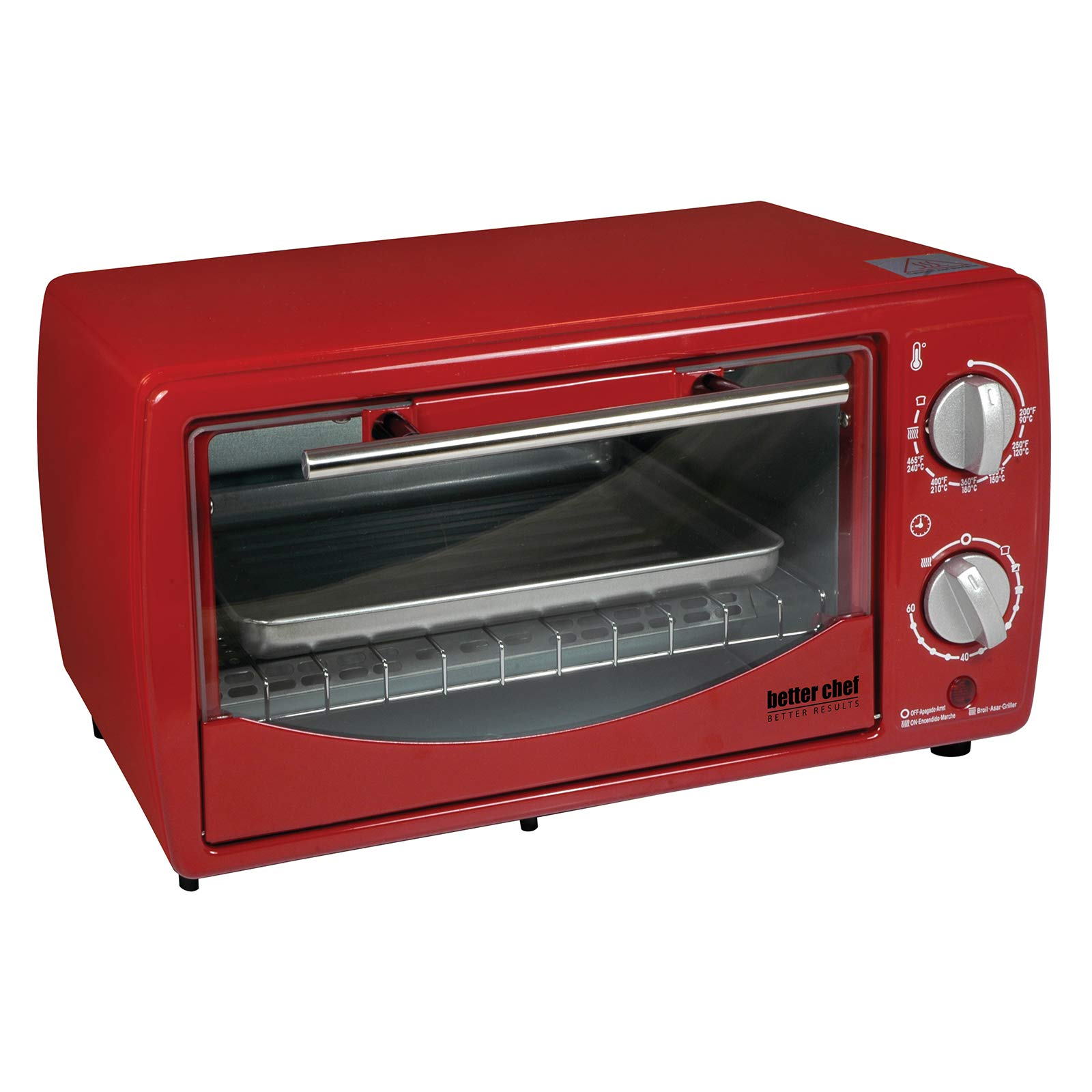 Better Chef 9 Liter Toaster Oven Broiler Red by Better Chef (Image #1)