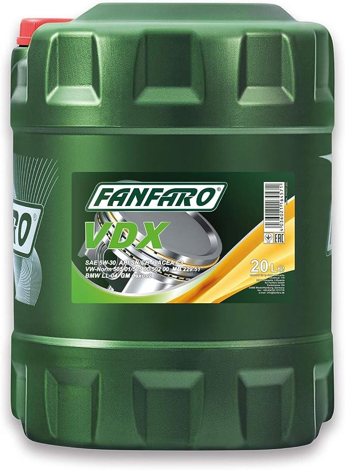 Fanfaro Vdx 5w 30 Engine Oil 20 Litres Auto