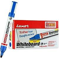 Luxor 1223 Refillable White Board Marker - Blue - Box of 10