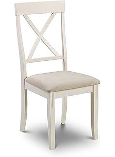 Julian Bowen Davenport Dining Chairs, Set Of 2, White