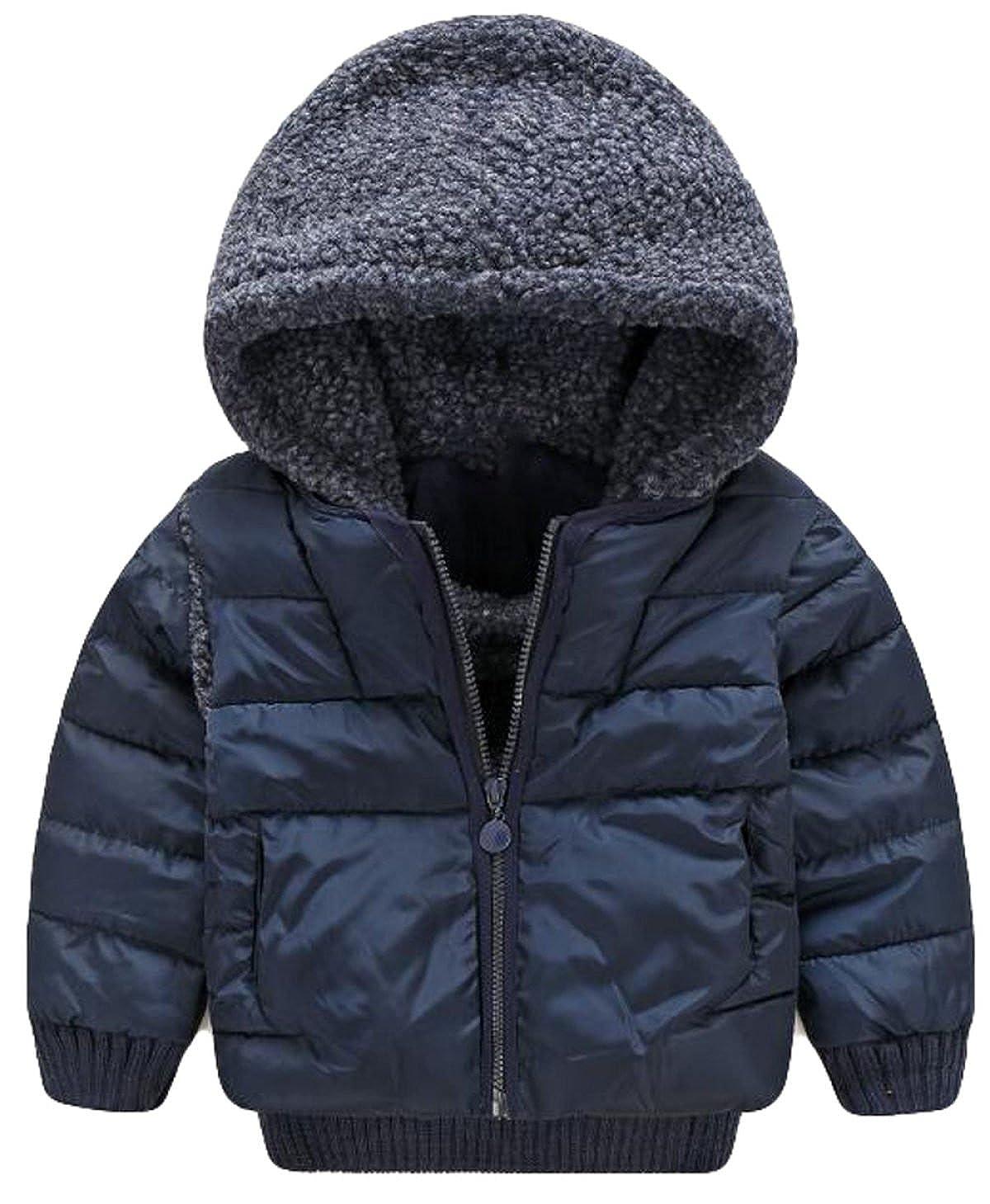 bleu2 M Hiver Chaud Enfants mode Pièce Matelassée