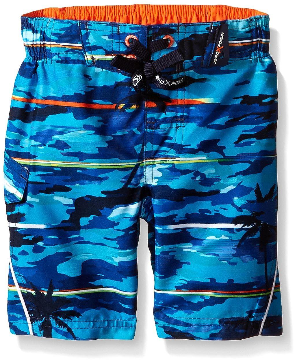 ZeroXposur Boys' Hawaiian Palm Swim Trunk 8401