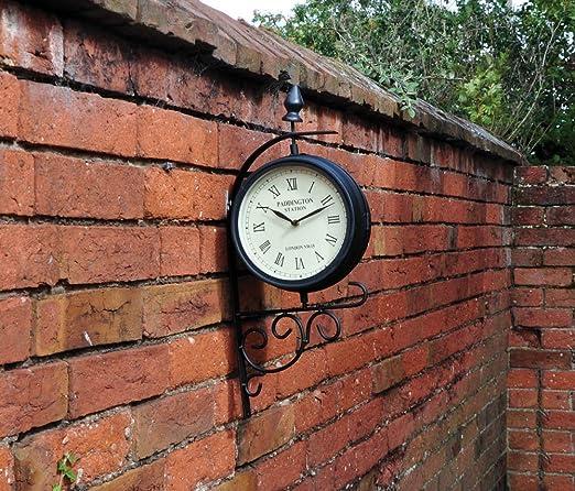 Kingfisher - Reloj de jardín de Estilo estación Victoriana: Amazon.es: Jardín