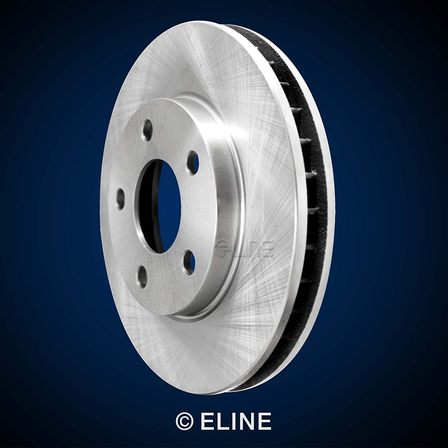 Front R1 Concepts KEOE11948 Eline Series Replacement Rotors And Ceramic Pads Kit
