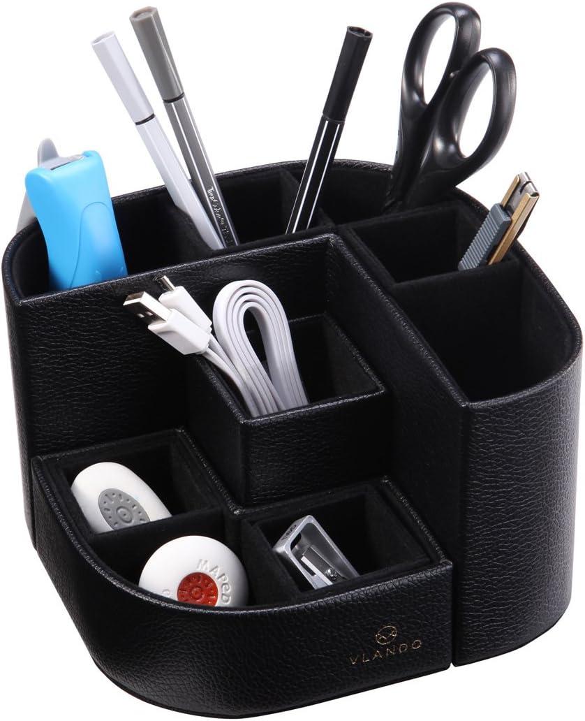 VPACK Magnet Desk Organizer Pen Holder - Desktop Office Supplies Stationery Gadgets Storage Box (Onyx Black)