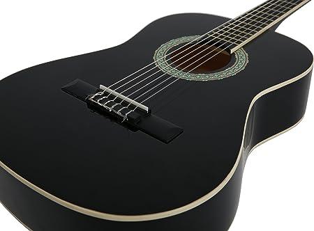 NAVARRA NV14PK - Guitarra acustica STARTER PACK 3/4 negro con ...