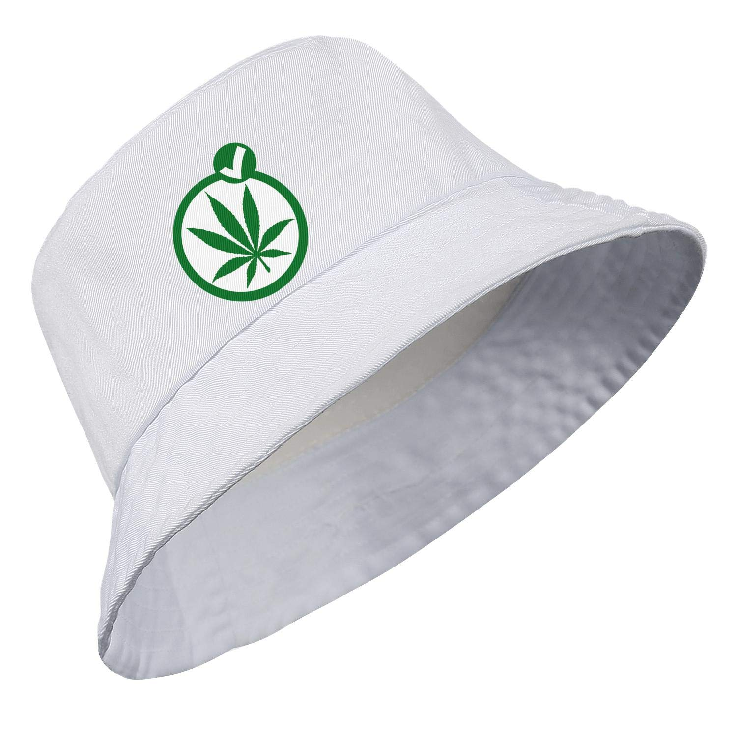 Unisex Womens Casual Bucket Hat Summer UV Sun Protection Psychedelic Weed Packable Fishing Hat