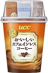 UCC おいしいカフェインレスコーヒー インスタント カップコーヒー 2P×30 60杯