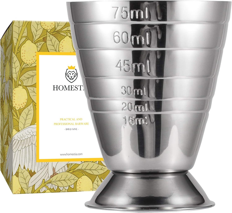 Homehome Barre de dosage en acier inoxydable 304 30//60 ml pour cocktail Jigger taille mince Cocktail Jigger /él/égance et pratique Barware argent