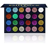 Aolailiya 24 Color Pressed Glitter Eyeshadow Palette - Mineral Ultra Shimmer Makeup Palette Eye Shadow Powder Long…