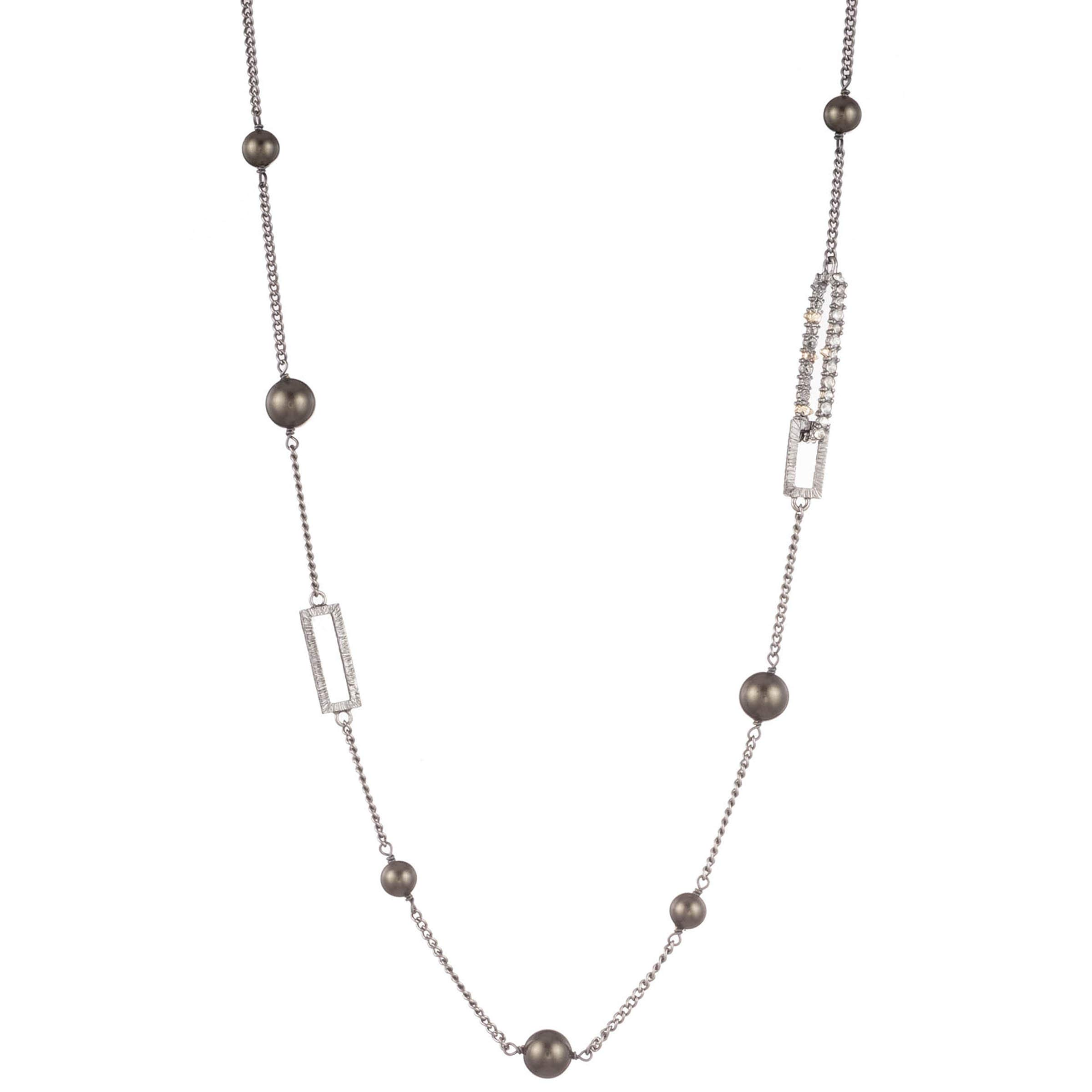 Alexis Bittar Women's Crystal Encrusted Link Necklace W/Pyrite Station by Alexis Bittar