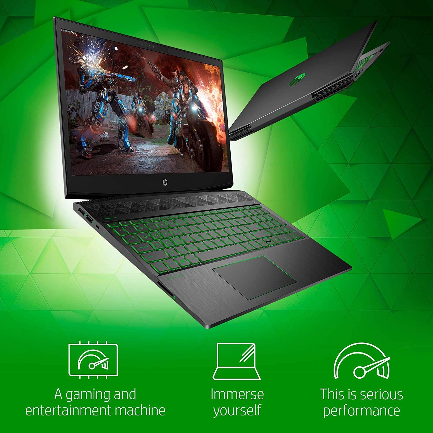 "New 2020 HP Pavilion Gaming Laptop 15.6"" FHD 1080p Core i5-9300H NVIDIA GTX 1050 3GB 8GB RAM 256GB SSD Windows 10"