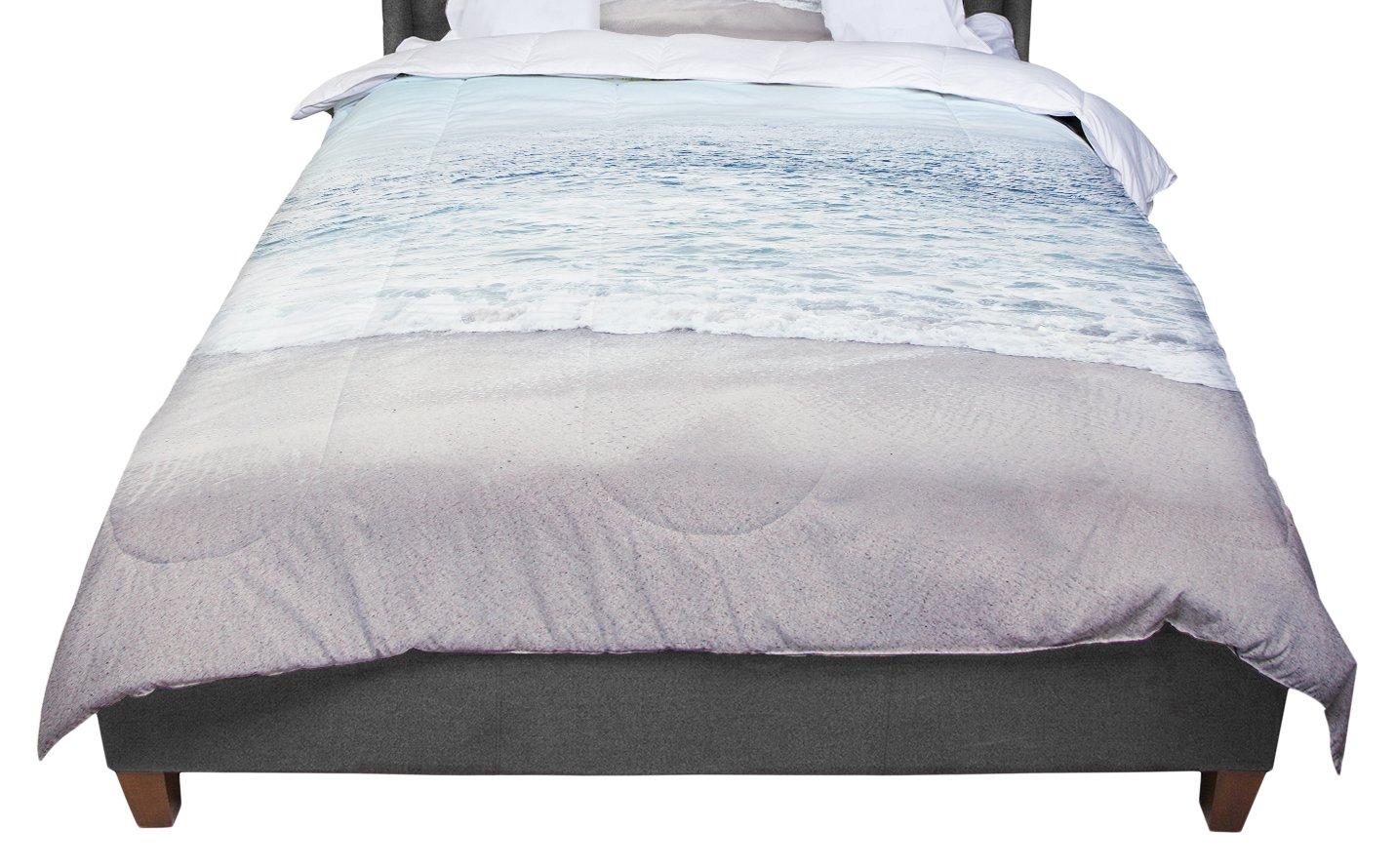 68 X 88 KESS InHouse Robin Dickinson Brave The Storm Snow Mountain Twin Comforter