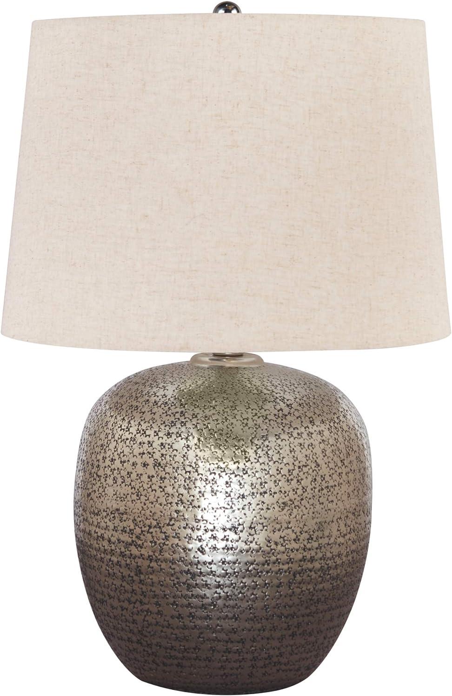 Amazon Com Signature Design By Ashley Magalie Metal Table Lamp Antique Silver Finish Home Improvement