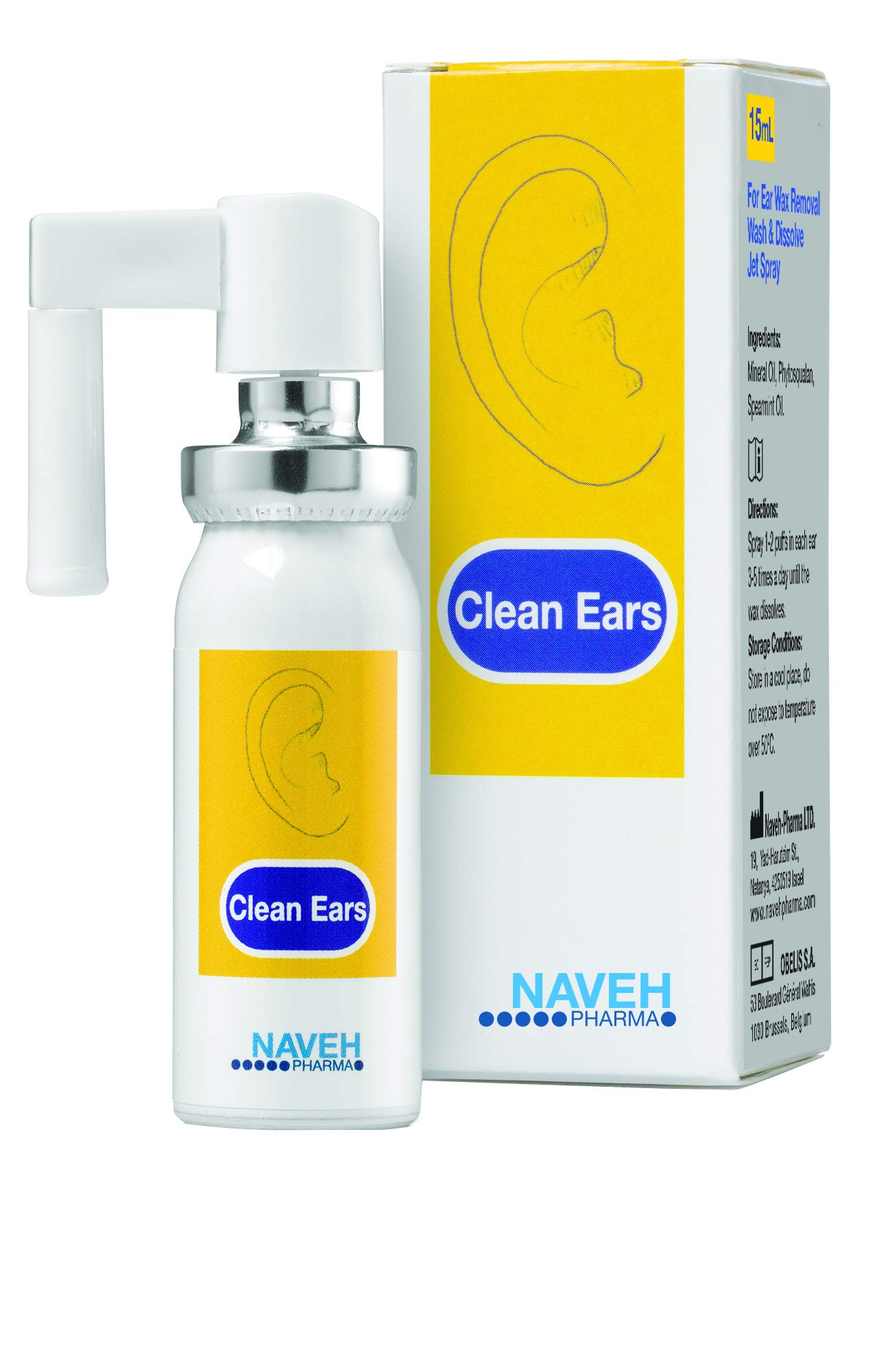 Naveh - Clean Ears ear wax removal 15ml Spray