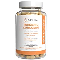 DACHA Tumeric Curcumin Supplement - 2250mg Joint Support Supplements Turmeric with...